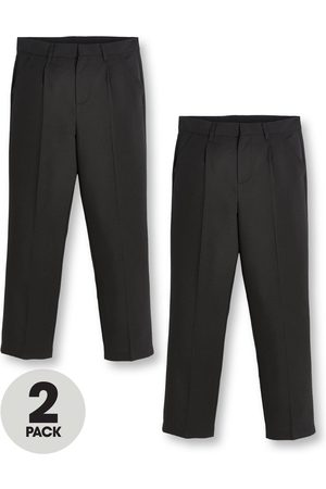 Very Boys 2 Pack Classic Woven Regular School Trousers