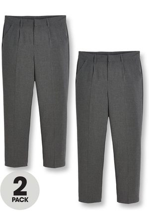 Very Boys 2 Pack Classic Woven Plus School Trousers