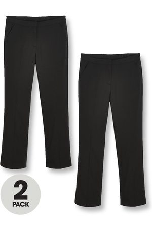 Very Girls 2 Pack Woven School Trouser Plus