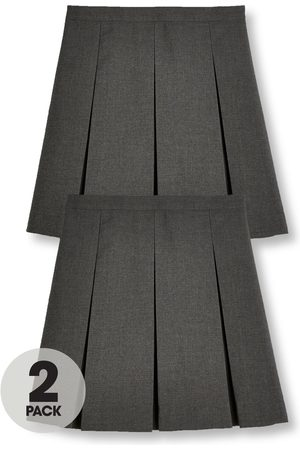 V by Very Girls Dresses & Skirts - Girls 2 Pack Classic Pleated School Skirts