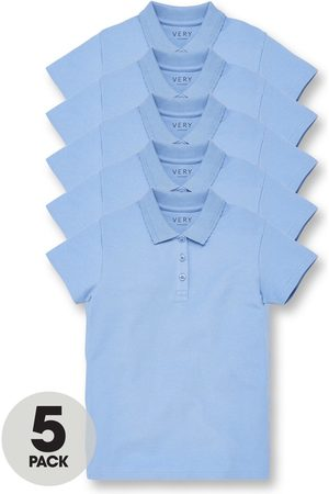 Very Girls 5 Pack School Polo Tops