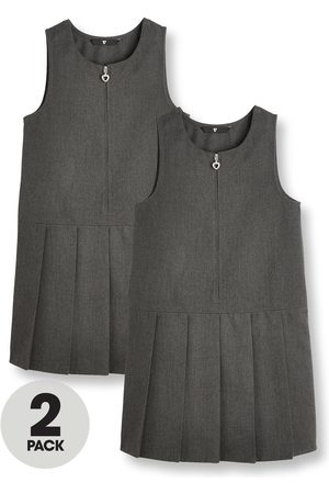 Very Girls 2 Pack Pleat Pinafore