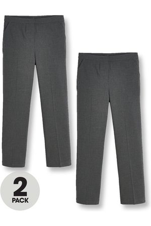 V by Very Girls Trousers & Shorts - Girls 2 Pack Woven School Trouser Reg