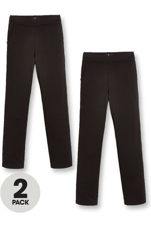 Very Girls Trousers & Shorts - Girls 2 Pack Jersey School Trouser