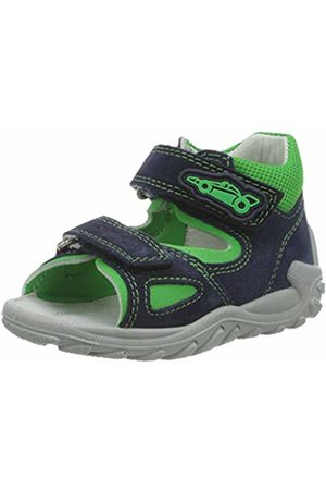 Superfit Baby Boys' Flow Sandals, (Blau/GRÜN 80)