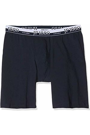 JP 1880 Men's Big & Tall Stretch Cotton Long Leg Boxer Briefs Navy 10 711242 70-10