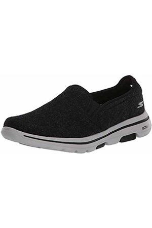 Skechers Men's GO Walk 5 Flint Slip On Trainers, ( Textile/ Trim Blk)