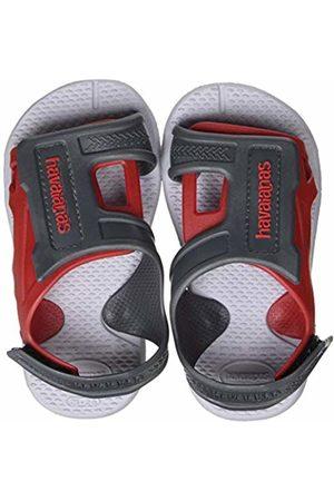 Havaianas Unisex Kid's Move Open Toe Sandals, (Ice / 5233)