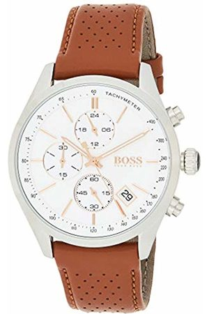 Hugo Boss 1513475 Men Chronograph Quartz Watch with Leather Strap
