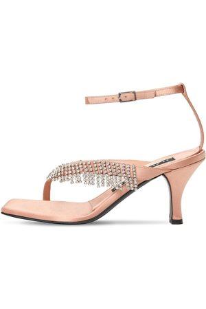 Les Petits Joueurs 70mm Ardith Satin & Crystals Sandals