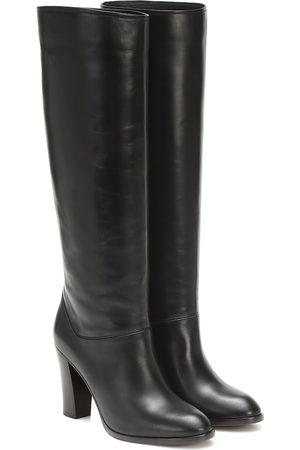 Loro Piana Debbie 90 knee-high leather boots