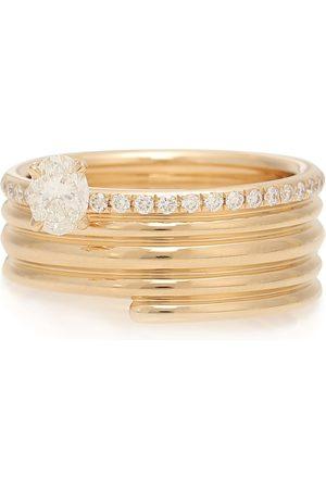 Repossi Blast 18kt rose- ring with diamonds