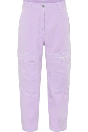 Stella McCartney Stretch-cotton high-rise pants