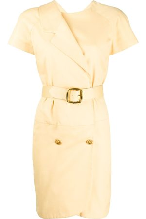 CHANEL Double-fastened belted dress