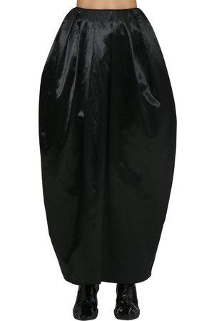 Marine Serre Women Skirts - High Waist Satin Maxi Puff Skirt