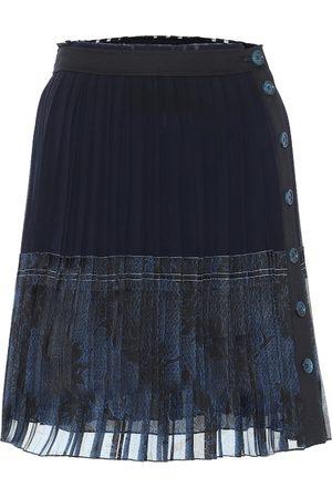 Chloé Pleated silk miniskirt