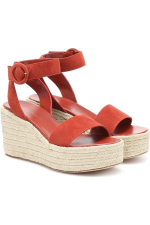 Gianvito Rossi Exclusive to Mytheresa – Suede espadrille wedge sandals