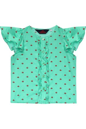 The Animals Observatory Parakeet printed silk-blend blouse
