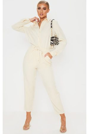 PRETTYLITTLETHING Cream Cigarette Trouser