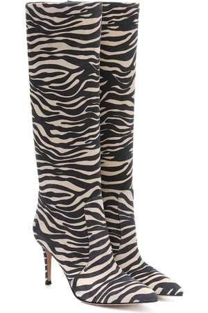 Gianvito Rossi Exclusive to Mytheresa – Zebra-print suede boots
