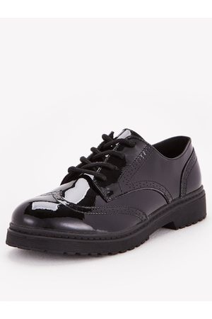 Very Toezone At Older Girls Brogue Patent Leather School Shoe