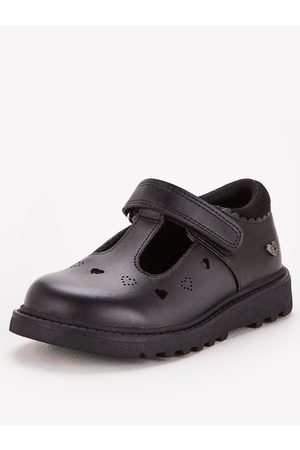 Very Toezone At Younger Girls Chunky Heart Leather School Shoe