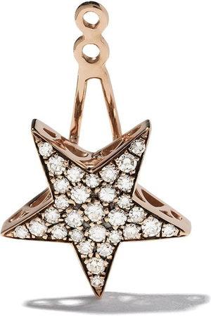 SELIM MOUZANNAR 18kt rose diamond Star ear jacket