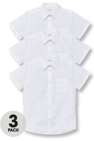 Very Boys 3 Pack Short Sleeved School Shirt
