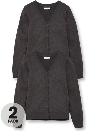 Very Girls 2 Pack School Cardigans - Charcoal