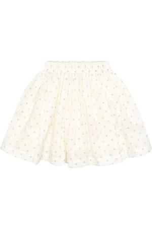 BONPOINT Dotted linen skirt