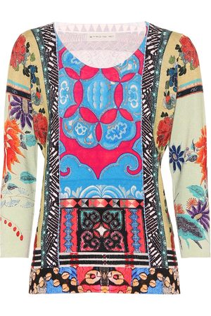 Etro Printed silk-blend top