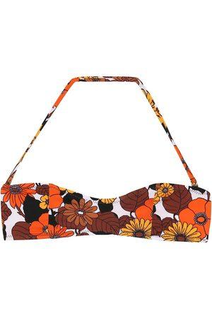 DODO BAR OR Floral halter bikini top