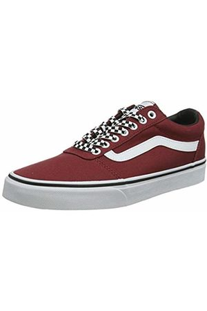 Vans Men's Ward Canvas Trainers, ((Checker Lace) Rosewood/ W9z)