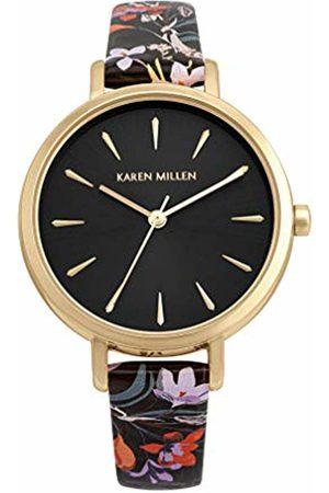 Karen Millen Women's Analogue Quartz Watch with PU Strap KM194BF
