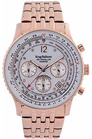 Krug-Baumen 400601DS Air Traveller Diamond Watch - Fashionable Men's Timepiece, Chronograph Movement