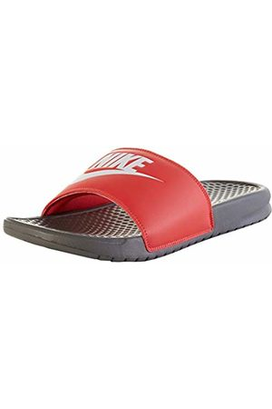 Nike Men's Benassi Slide Sandal, Iron Gray/Whitetrack