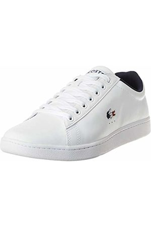 Lacoste Men's Carnaby EVO TRI1 SMA Trainers, (Wht/NVY/ 407)