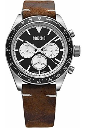 Fonderia Mens Analogue Quartz Watch with Leather Strap P-9A011UNW