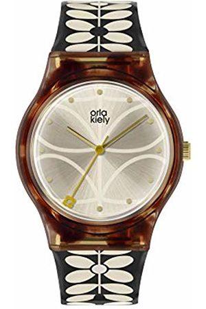 Orla Kiely Womens Analogue Classic Quartz Watch with Plastic Strap OK2314