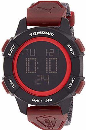 Puma Trinomic Men's Quartz Watch with LCD Dial Digital Display and Grey Nylon Strap PU911271003