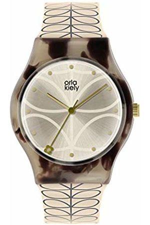 Orla Kiely Womens Analogue Classic Quartz Watch with Plastic Strap OK2312