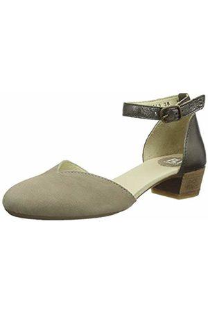 Fly London Women's LOGI459FLY Closed Toe Sandals, (Cloud/Bronze 004)