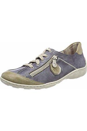 Rieker Women's M3724 Low-Top Sneakers, (Marble/Jeans/Altsilber)