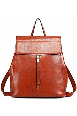 MISS LULÙ Classic Pu Leather Women Backpack Fashion Daypack for Girl Zip Shoulder Handbags