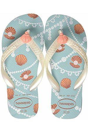 Havaianas Girls' Fantasy Flip Flops, (Ice /Mermaid 7712)