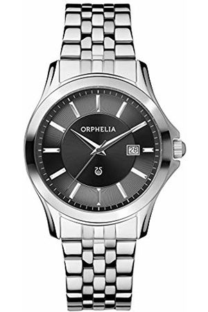 ORPHELIA Men's Quartz Watch with Black Dial Analogue Display and Stainless Steel