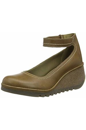 Fly London Women's NAME194FLY Ankle Strap Heels, (Camel 007)