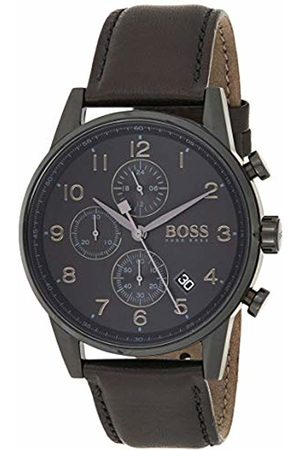 HUGO BOSS Men's Chronograph Quartz Watch with Leather Strap - 1513497