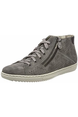 Rieker Women's L9427 Hi-Top Trainers, (Smoke/Schwarz)