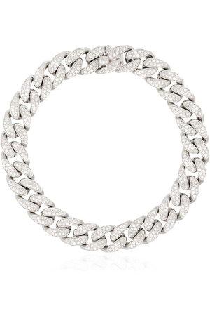 Shay 18kt white gold pavé diamond bracelet - METALLIC